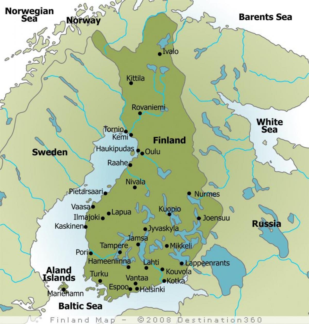 Camping Karta Europa.Camping Finland Karta Karta Over Campingen Finland Norra Europa