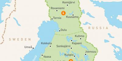 Levi Finland Karta Finland Levi Karta Norra Europa Europa